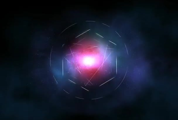 glow Light Streaks Particle Explosion Logo Intro
