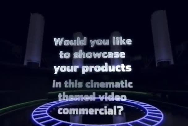 create a sensational video commercial for your product