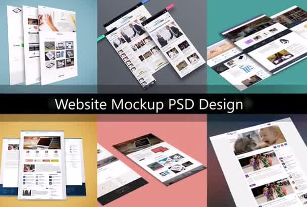 create awesome website design as PSD Template