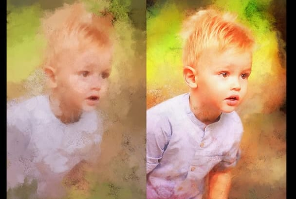 turn your photo in a very beautiful digital PAINTING style