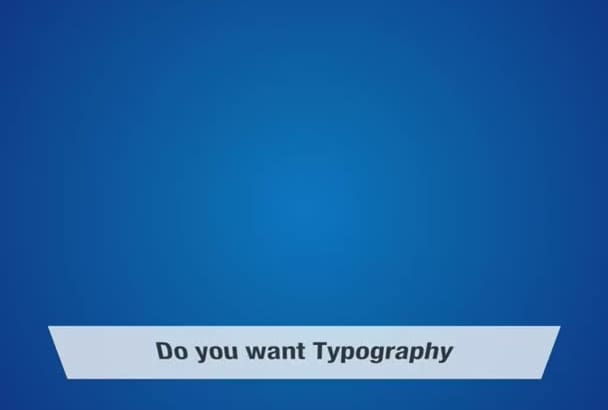 provide you amazing typography video animation