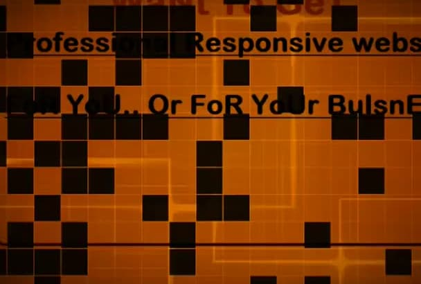 create for you Professional Responsive Website