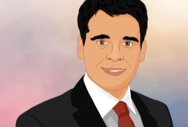draw cartoon portrait of you