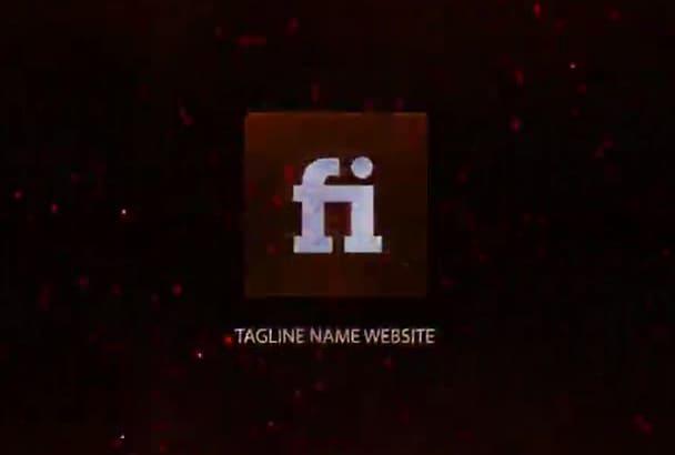 create cool logo video intro