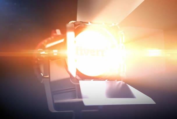 make light logo reveal intro