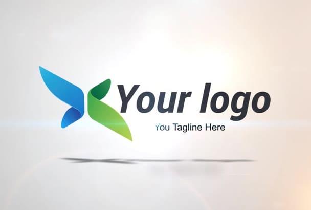 elegant Spin Logo Reveal