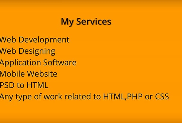 develop or debug php,html or css code within 24 Hours