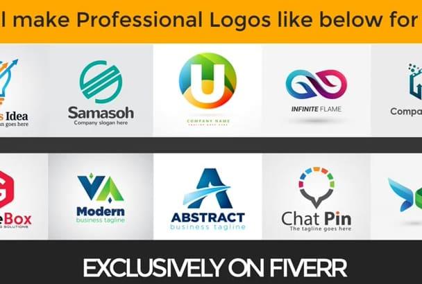 make Unique Professional LOGO Designs for your Business