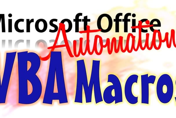 use VBA for Excel, Access, PowerPoint or Word for Automation
