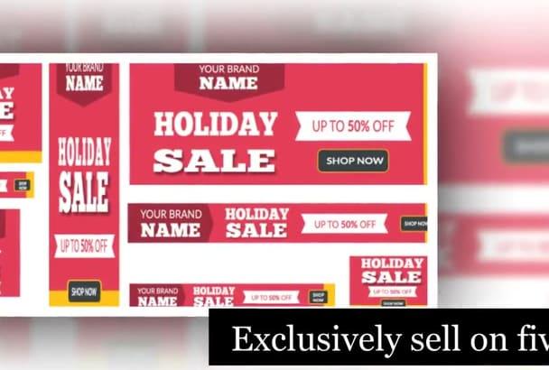 design Creative sale banner,banner Ad Design