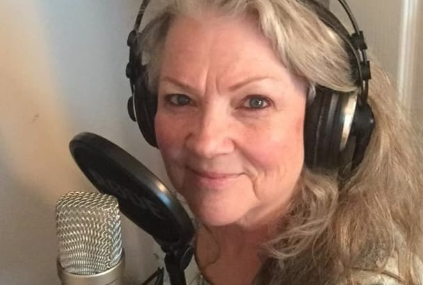 record an American female voice over narration