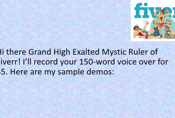 record a High Quality American Male Voiceover