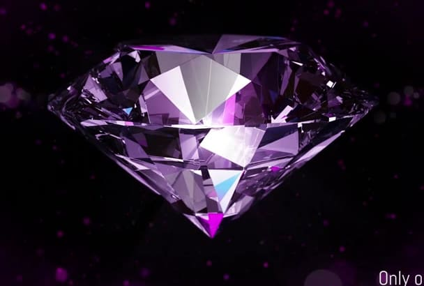 create Diamond Intro with your logo or text
