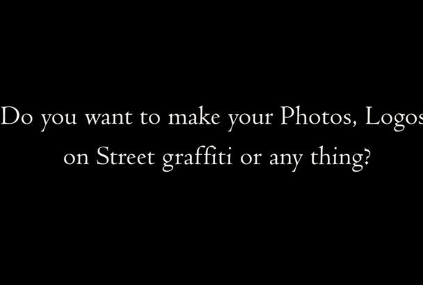 draw your logo or photo on street graffiti