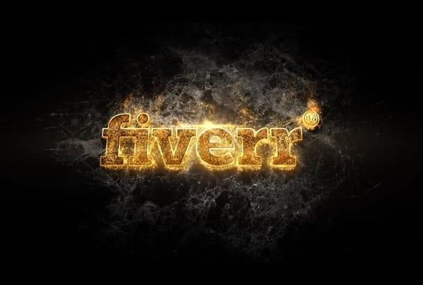 make Gold 3D logo intro