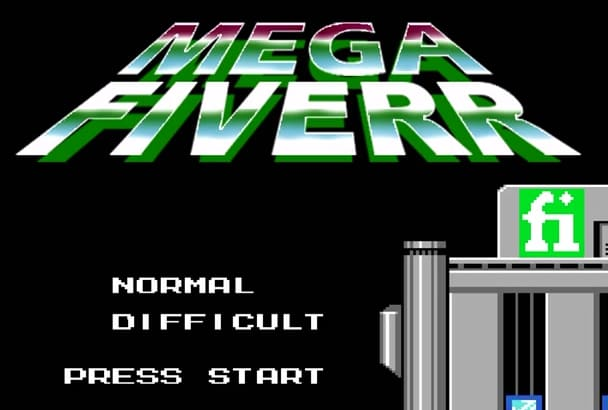 write your halloween message on Megaman 8 bit retro scene