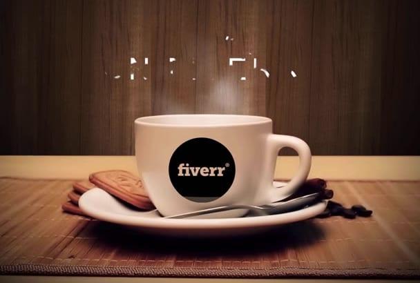 create Elegant Coffee Logo Reveal Video For you