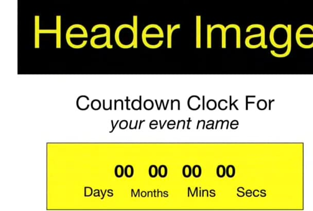 design a custom countdown landing page for your product or event