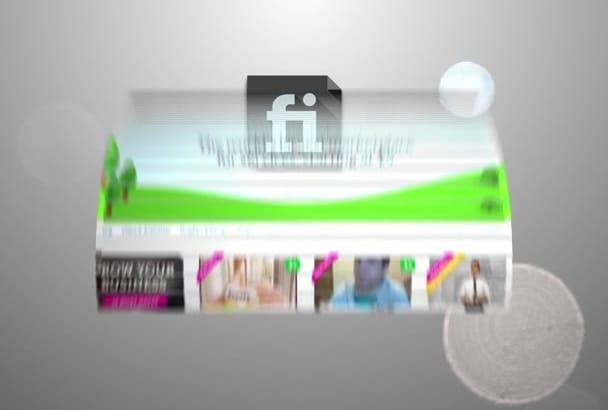 create WEBSITE promotional video