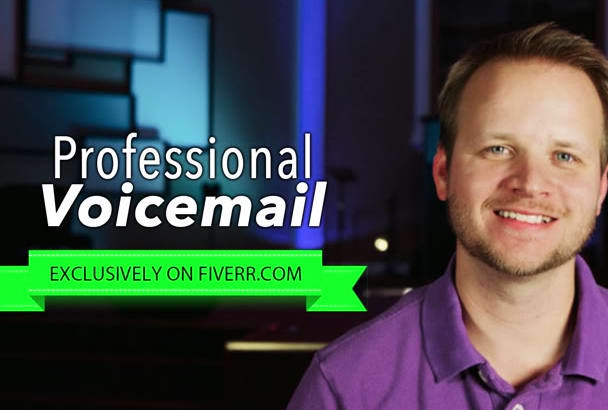 record a professional voicemail