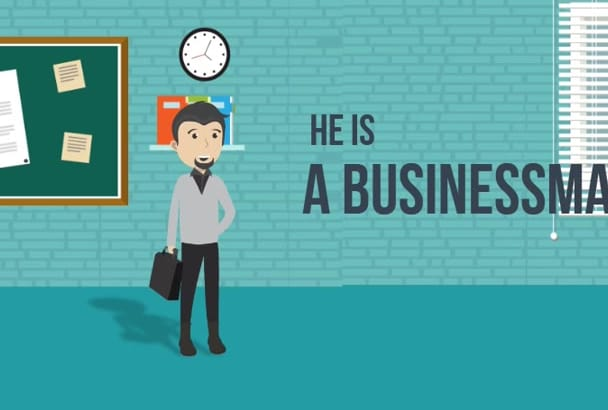 create this explainer animation or Custom animation Video