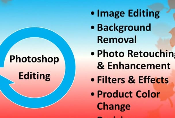 do professional  Photoshop editing job within 12 hours
