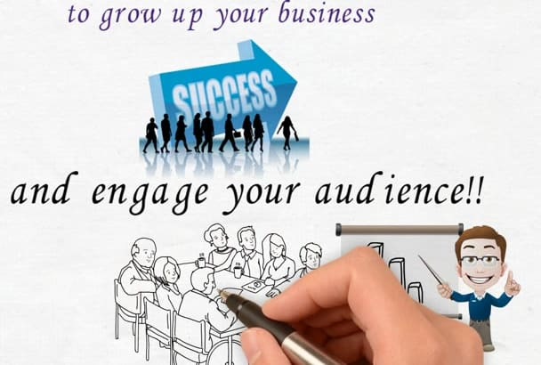 create HD advertisement whiteboard video for your business