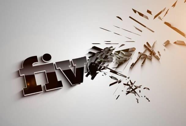 make professional Logo Animation Video Intro en HD