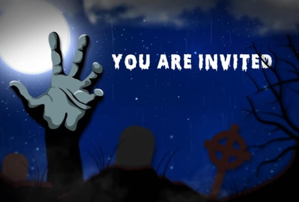 make this awesome Halloween video invitation