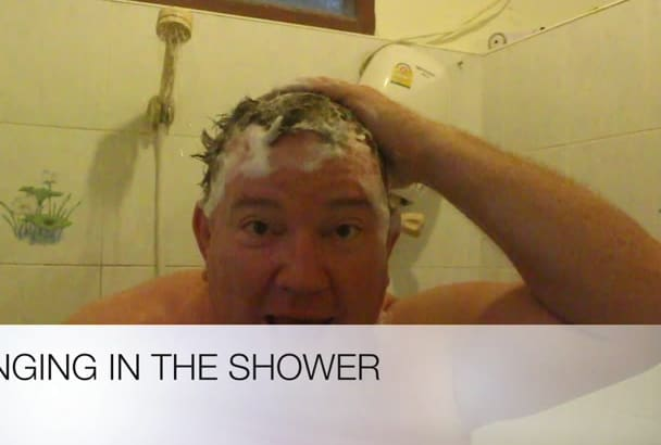 sing a Happy Birthday  or another song or message in the shower
