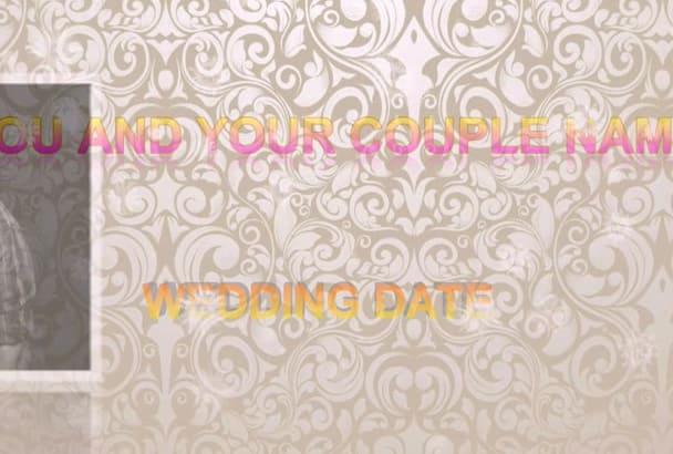 create romantic  wedding photos video slide show