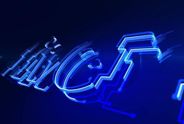 create  Light Emitting 3D Logo Reveal Intro