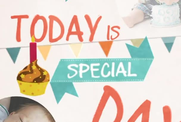 make birthday or any occasions video using your photos