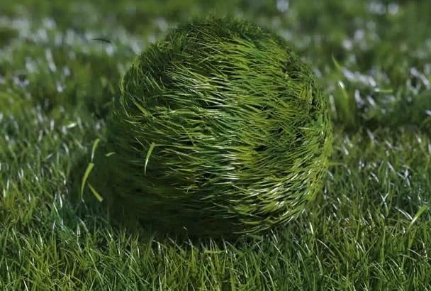 make bouncy Grass Ball Logo Reveal Funny