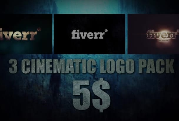 create 3 CINEMATIC logo intro