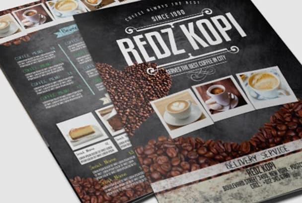 make great restaurant flyer for you