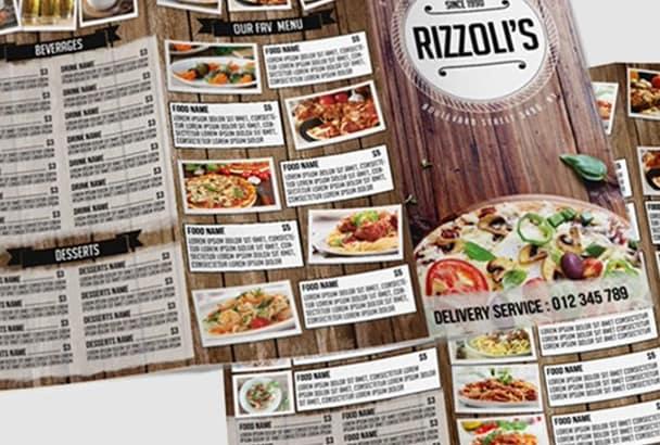 make GREAT food menu for you