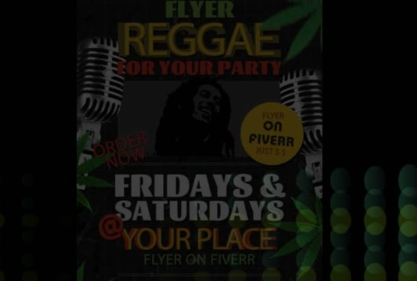 design and print reggae flyer for your party