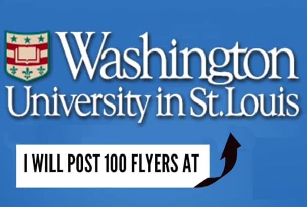 post 100 Flyers at the Washington University