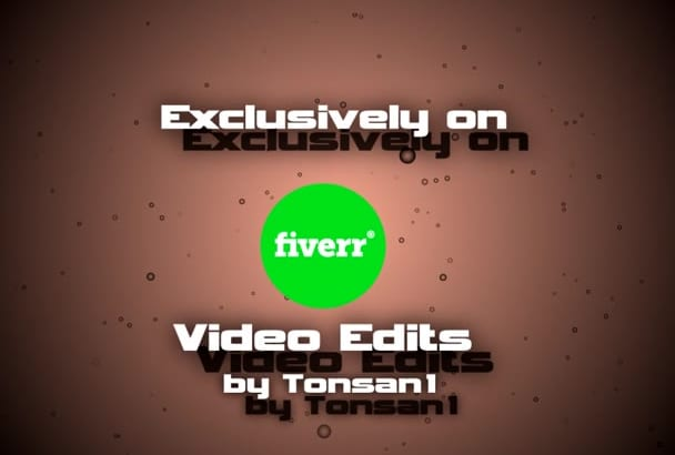 do professional video editing and design