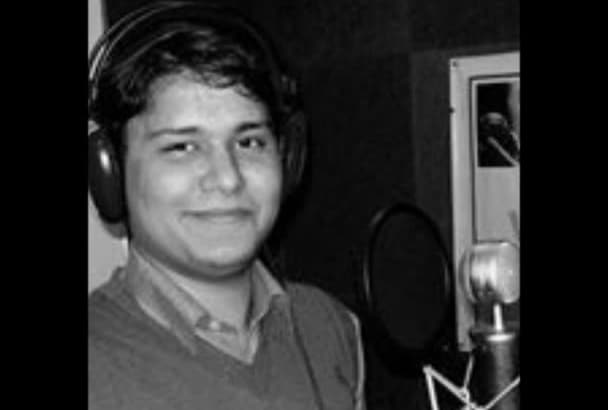 do a Hindi voiceover with studio quality