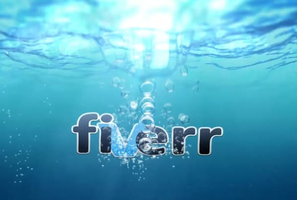 create amazing intro logo UnderWater