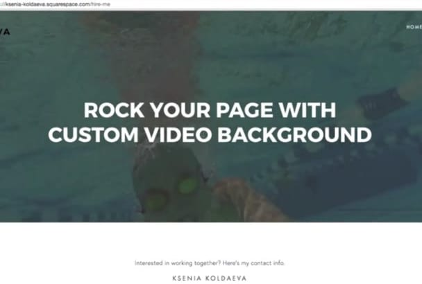 install a video background to your Squarespace website