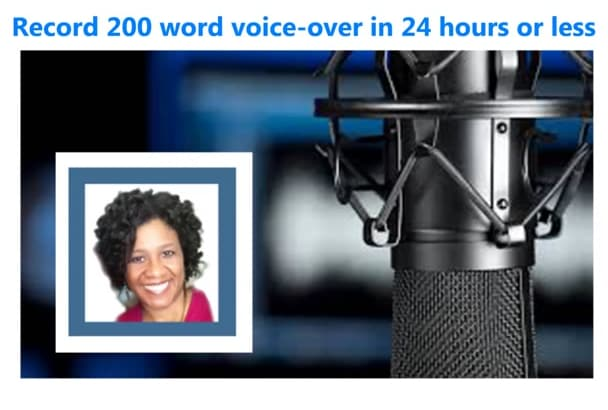 record an engaging American female voice over
