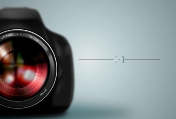 do photography enthusiast logo animation