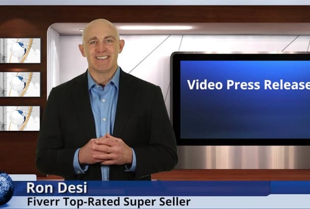 create a video PRESS release in a studio