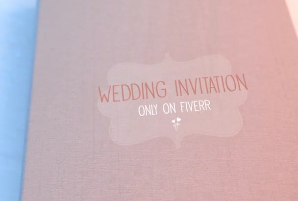 create a Wedding Invitation Video