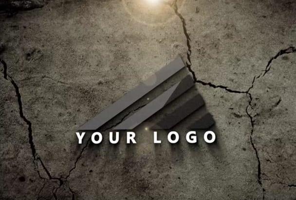 create amazing powerful intro logo