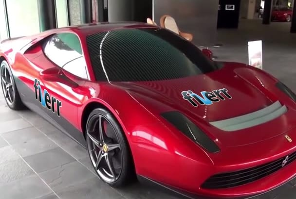 promote your Business on this amazing Red Ferrari SP12