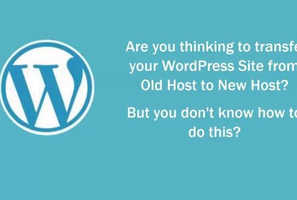 move, transfer or migrate WordPress